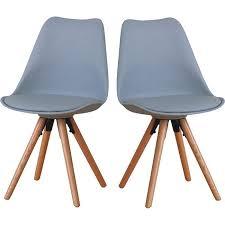 2er set esszimmerstuhl nelle küchenstuhl esszimmer küche stuhl stühle eiche grau