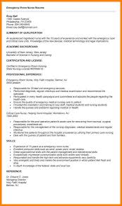 ER Nurse Resume Samplestrendy Design Er 11 Emergency Room Cover Letter