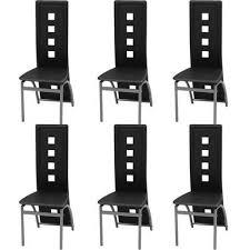 vidaxl esszimmerstühle 6 stück kunstleder schwarz