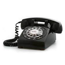 Portable Rotary Phone Black