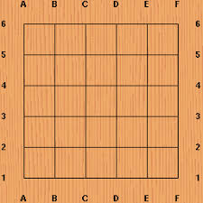 Play Starts On An Empty Board Which Is A Square Grid Of Horizontal And Vertical Lines This Small One With 6x6 Forming 36 Intersections