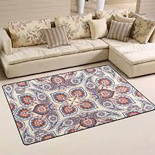 de lzxo teppich für wohnzimmer ethno stil