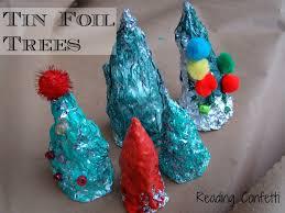 Tin Foil Christmas Tree Sculptures
