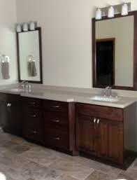Unfinished Bathroom Cabinets Denver by Walnut Vanity Transitional Bathroom Denver Marc Hunter Inside