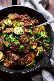 zucchini hackfleisch pfanne