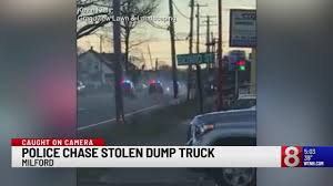 100 Dump Trucks Videos VIDEO Police Chase Stolen Dump Truck Down Route 1 In Milford