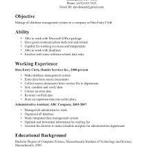 sle resume for clerical sle resume for clerical