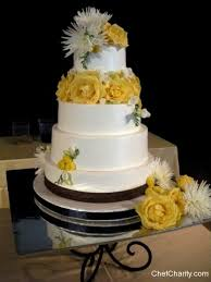 Black Ribbon White Wedding Cake