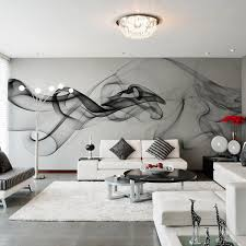 Wallpaper Modern 3D Wall Mural Black White Smoke Fog Art Design Bedroom Office Living Room