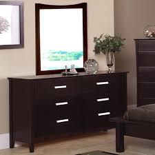 6 Drawer Dresser With Mirror by Dark Wood Dresser Mirror Set With Silver Pulls New