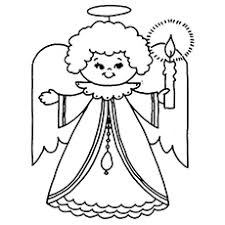 Guardian Angel Coloring Page To Print