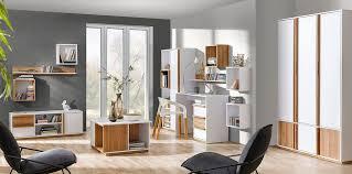 easy möbel wohnzimmer komplett set f lefua 14 teilig farbe weiß nussfarben