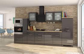 küchenzeile münchen vario 4 küche mit e geräten breite 360 cm hochglanz grau graphit