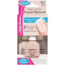 sally hansen hard as nails nearly 3411 french manicure 3 ct
