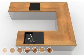 arbeitsplatte küche eiche massivholz hell u form nach maß