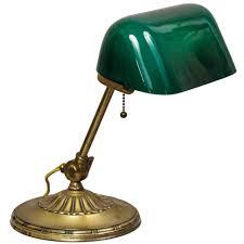 Antique Bankers Lamp Green desk lamp vintage bankers desk lamp model green glass shade
