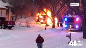 100 Postal Truck Fire Video Shows USPS Truck Catch Fire Then Roll Through Kansas City