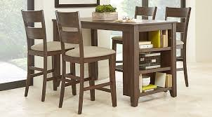 Mellow Morning Brown 5 Pc Kitchen Island Counter Height Dining Set