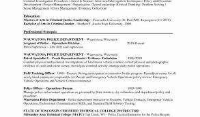 31 Police Resume Examples Free Resume