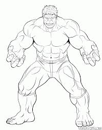 Hojas Para Colorear De Hulk