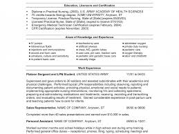 25 New Nurse Resume Samples Examples Lvn Sample For Within