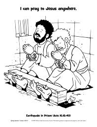 Paul Silas In Prison Find This Pin And More On Bible Coloring Pages