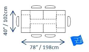 Standard Dining Table Width Dimension Average Room Bench