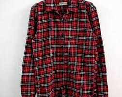 Vintage Flannel Shirt Button Up 90s Grunge Clothing