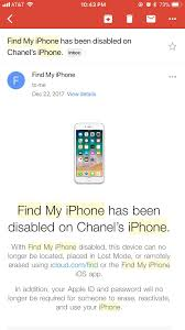 Just found this email about my stolen iPhone that was stolen