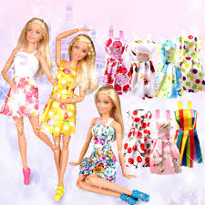 Amazoncom Cute Girl Beautiful 4 Pcs Mini Dress Princess Dress