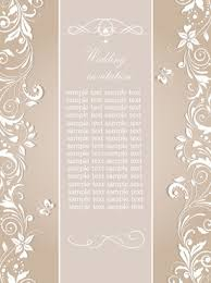 Elegant Floral Decor Wedding Invitation Cards Vector