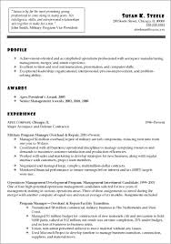 Military Resume Samples To Civilian Objective Examples