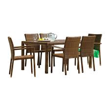 Panama Jack St Berths Brown Pine Rectangular Outdoor Dining Arm Chair Set  With Cushions, 7 Piece Bainbridge Ding Arm Chair Montecito 25011 Gray All Weather Wicker Solano Outdoor Patio Armchair Endeavor Rattan Mexico 7 Piece Setting With Chairs Source Chloe Espresso White Sc2207163ewesp Streeter Synthetic Obi With Teak Legs Outsunny Coffee Brown 2pack Modway Eei3561grywhi Aura Set Of 2 Two Hampton Pebble