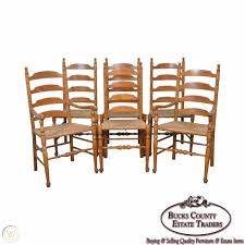 Ethan Allen Nutmeg Set Of 6 Rush Seat Ladder Back Maple ... 6 Ladder Back Chairs In Great Boughton For 9000 Sale Birch Ladder Back Rush Seated Rocking Chair Antiques Atlas Childs Highchair Ladderback Childs Highchair Machine Age New Englands Largest Selection Of Mid20th French Country Style Seat Side By Hickory Amina Arm Weathered Oak Lot 67 Set Of Eight Lancashire Ladderback Chairs Jonathan Charles Ding Room Dark With Qj494218sctdo Walter E Smithe Fniture Design A 19th Century Walnut High Chair With A Stickley Rush Weave Cape Ann Vintage Green Painted