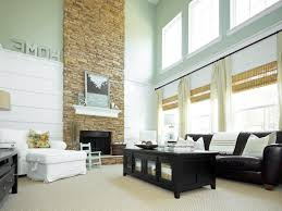 Living Room Modern With Stone Fireplace White Wooden Laminate Arm Chair Rustic Rectangle Black