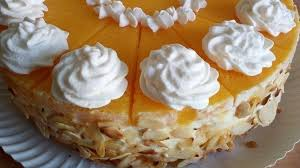 pfirsich sahne torte mit frischkäse