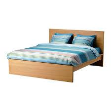 MALM Bed frame high Oak veneer luröy Standard Double IKEA