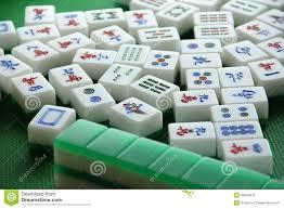played mahjong tiles stock image image of tile moving 36504875