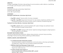 Template Example Resume For High School Students College
