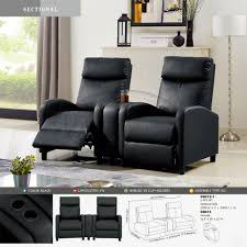 Chairs LOT OF 2 BLACK LEATHER 2-SEAT HOME THEATER RECLINERS ... Modern Faux Leather Recliner Adjustable Cushion Footrest The Ultimate Recliner That Has A Stylish Contemporary Tlr72p0 Homall Single Chair Padded Seat Black Pu Comfortable Chair Leather Armchair Hot Item Cinema Real Electric Recling Theater Sofa C01 Power Recliners Pulaski Home Theatre Valencia Seating Verona Living Room Modernbn Fniture Swivel Home Theatre Room Recliners Stock Photo 115214862 4 Piece Tuoze Fabric Ergonomic