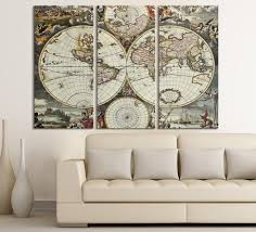 Vintage World Map Canvas Print - For Interior Design, Home And ... 21 Outstanding Craftsman Home Office Designs Cool Office Layouts Chinese Wisdom Feng Shui Tips Frontop Cg 15 Exquisite Offices With Stone Walls Personality And Fniture Interior Decorating Ideas Design Concepts Wallpapers For Android Places Articles Software Tag Amazing Modern 6 Armantcco Inspiration Lsn News Desk Job A Study In Home And Design Cporate