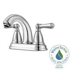 Home Depot Bathroom Faucets Chrome by Pfister Canton 4 In Centerset 2 Handle Bathroom Faucet In