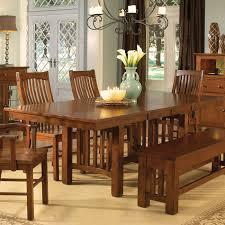 A America 2 piece Laurelhurst Trestle Dining Table Mission Oak