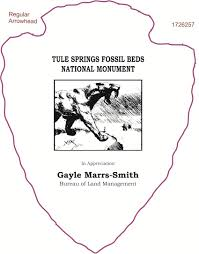 Tule Springs Fossil Beds National Monument by Arrowhead Plaques Logo Gallery Page 6