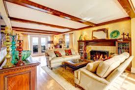 100 Rustic Ceiling Beams Brigth Living Room With Rustic Furniture Ceiling Beams Fireplace