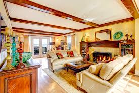 100 Rustic Ceiling Beams Brigth Living Room With Rustic Furniture Ceiling Beams Fireplace