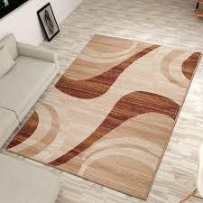 teppiche möbel wohnen teppich braun beige kurzflor hell