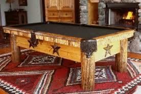 Lone Star Log Timber Rustic Pool Table
