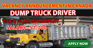 100 Dump Truck Drivers VACANCY ANNOUNCEMENT DUMP TRUCK DRIVER IN CANADA Jobs In Canada