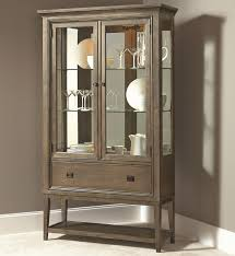 contemporary curio china cabinet with 2 glass doors and adjustable